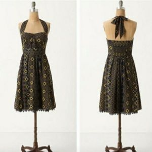 Anthropologie Rhythmic Repetitions Halter Dress 8